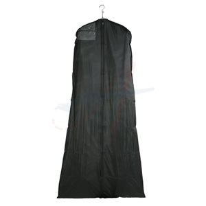 ZIPPERED GARMENT BAGS BLACK