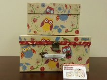 RETRO OWL STORAGE BOX SET