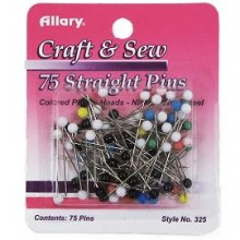 COLORED BALL HEAD PINS 1 1/8""