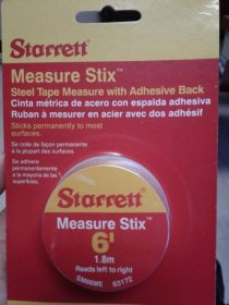 STEEL TAPE MEASURE W/ADHESIVE BACK