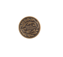 JEAN TACK BUTTON OAK LEAF DESIGN