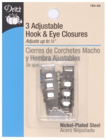 ADJUSTABLE HOOK & EYES